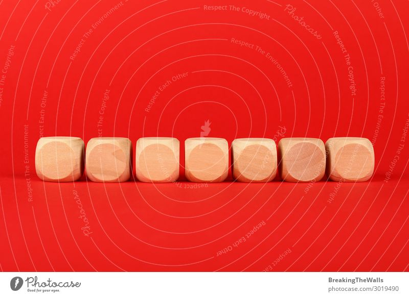 Blank wooden cube signs over red background Toys Wood Red Colour Word 7 block Vantage point colorful Conceptual design Text Problem Communication Information 1