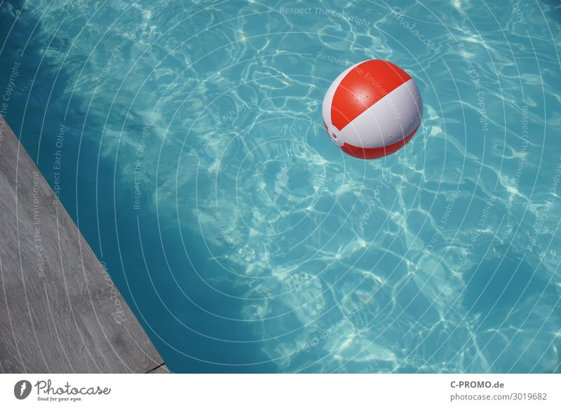 Vacation & Travel Summer Blue Water Red Joy Tourism Swimming & Bathing Gray Leisure and hobbies Wet Wellness Summer vacation Swimming pool Ball Turquoise