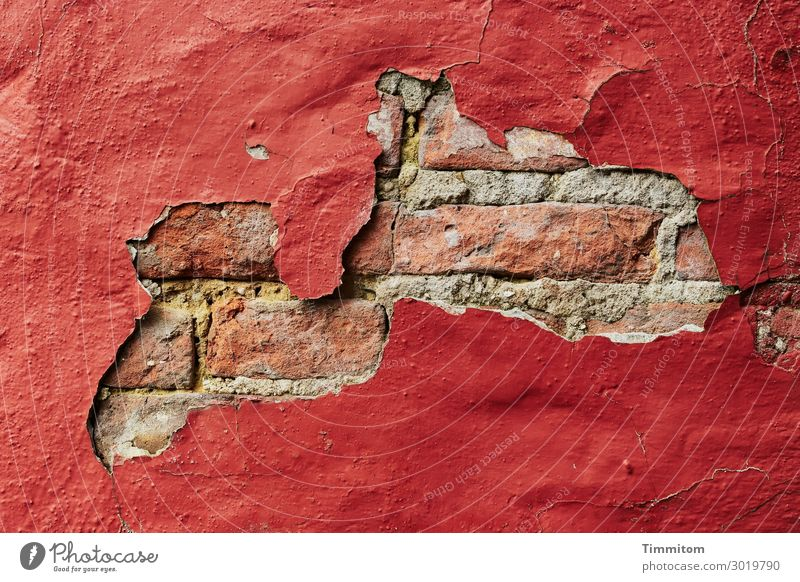 This wall could tell a story! Denmark House (Residential Structure) Wall (barrier) Wall (building) Old Authentic Simple Broken Red Emotions Transience Brick