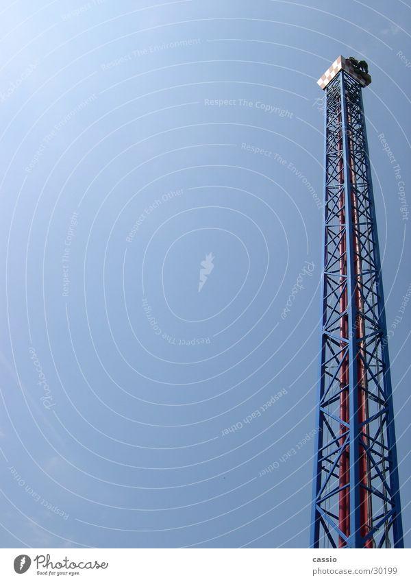 Space shot. Amusement Park Steel Fairs & Carnivals Tower Tall Sky