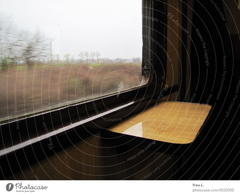 Polish Railway Vacation & Travel Trip Winter Transport Means of transport Passenger traffic Train travel Railroad To enjoy Brown Black Calm Sustainability