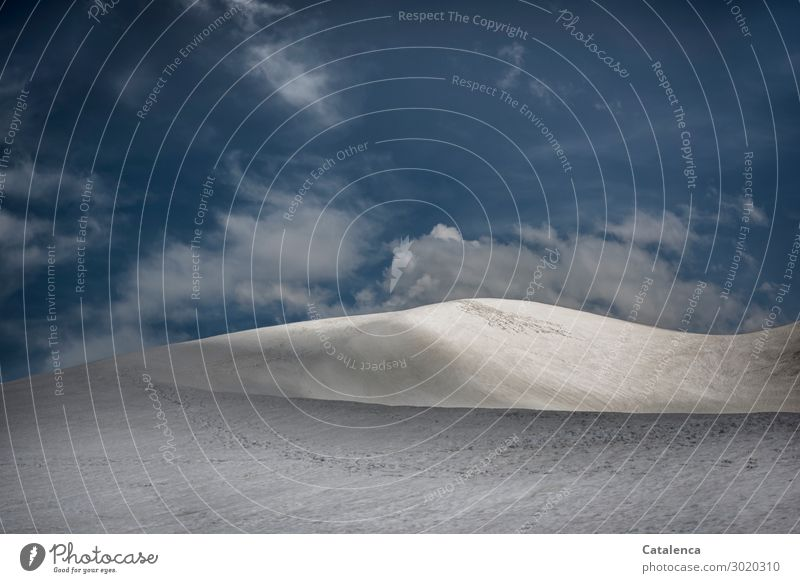 A glacier dune Vacation & Travel Snow Mountain Hiking Environment Nature Landscape Elements Sky Clouds Summer Winter Beautiful weather Ice Frost Alps Old