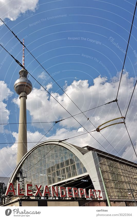 ALEX two Berlin Alexanderplatz Berlin TV Tower Train station Train travel Railroad GDR