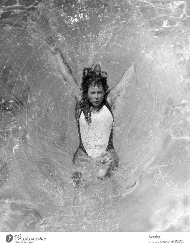 splash Swimsuit Jump Ocean Refreshment Woman Water Swimming & Bathing fun Movement