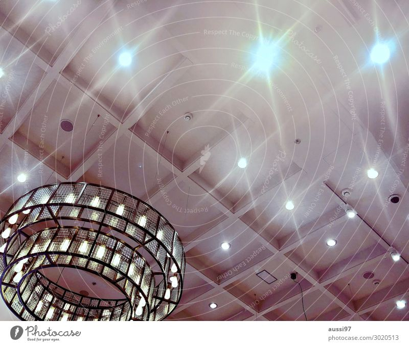 Lamp Moody Bright Shows Ceiling Atmosphere Presentation Chandelier Skylight