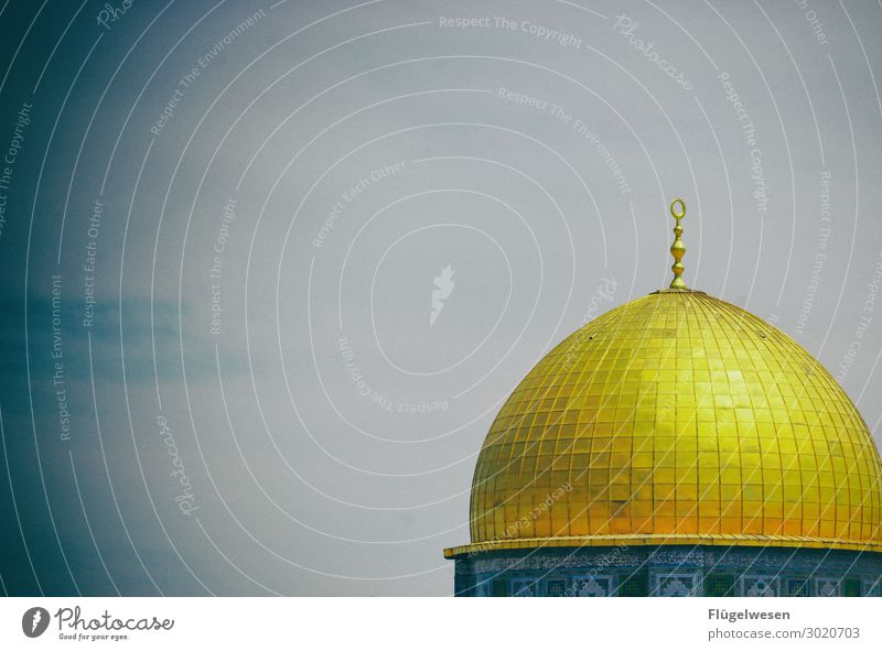 Dome of the Rock Dome of the rock Mosque West Jerusalem Israel Moslem Judaism Jews Temple Mount Crisis powdered Middle East