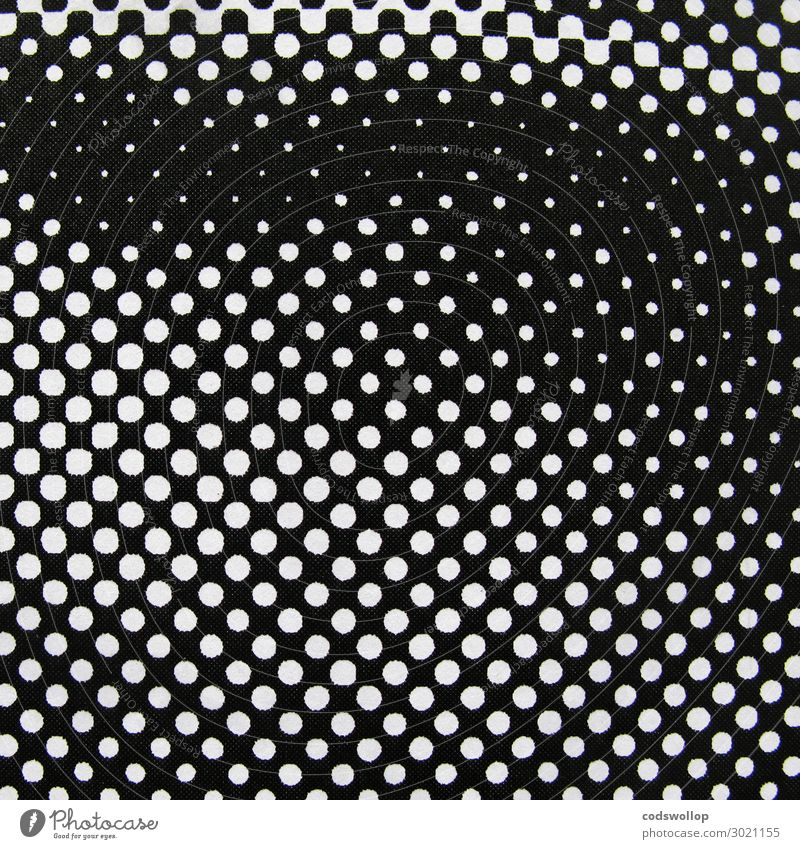 progression of concentration Printed Matter Print shop Grid Black White Design grid point semitone halftone image Black & white photo Abstract Pattern