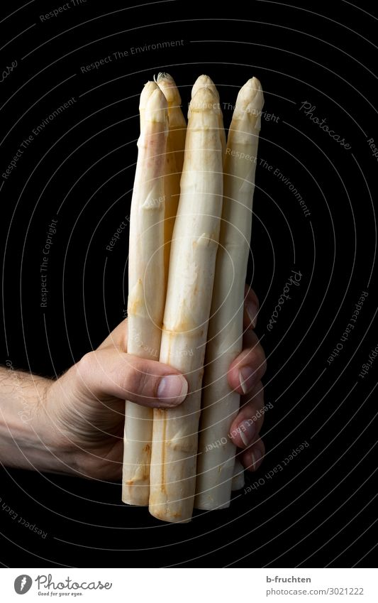 a bunch of white asparagus Food Vegetable Nutrition Organic produce Vegetarian diet Shopping Healthy Healthy Eating Hand Fingers Work and employment Select