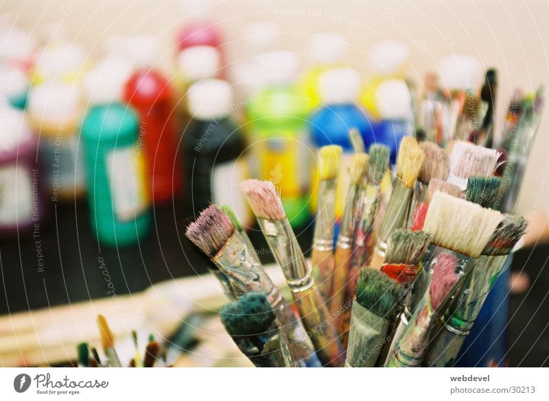 brush Paintbrush Painting and drawing (object) Leisure and hobbies Multicoloured Colour Creativity