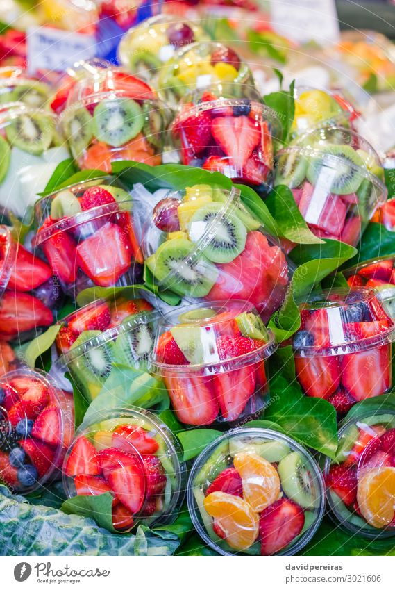 Set packed of fresh fruits in a market Food Vegetable Fruit Shopping Vacation & Travel Tourism Marketplace Stand Fresh Barcelona Spain boqueria catalan