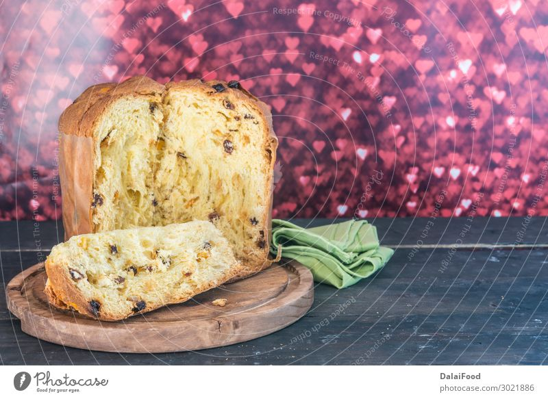 Panettone typical dessert Fruit Bread Dessert Breakfast Kitchen Feasts & Celebrations Christmas & Advent Culture Fresh New White Moody Tradition background