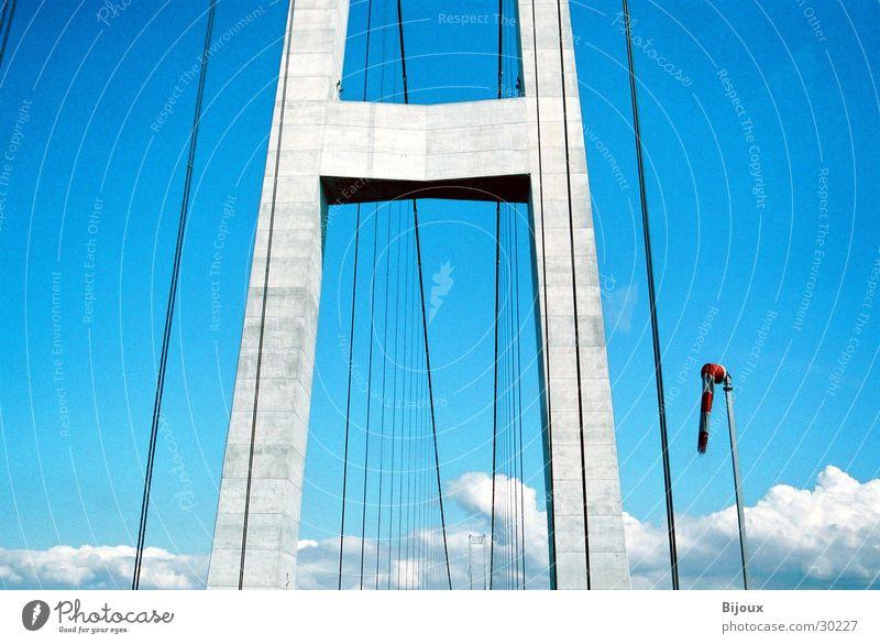 Sky Blue Calm Wind Concrete Bridge Modern Level Steel Monument Denmark Sublime Size