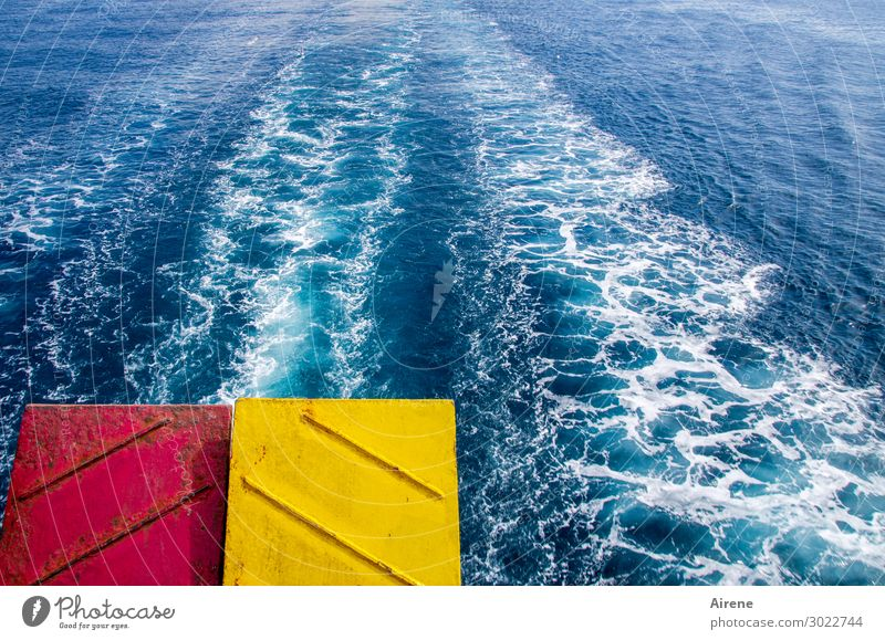 Shut up! Shut up! Vacation & Travel Trip Summer vacation Ocean White crest Beautiful weather Waves Wake Navigation Ferry Tailgate Metal Driving