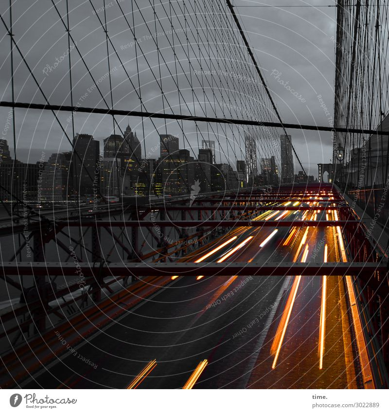 Sky Town Clouds Dark Street Architecture Movement Exceptional Stone Horizon Line Transport High-rise Perspective Bridge Speed