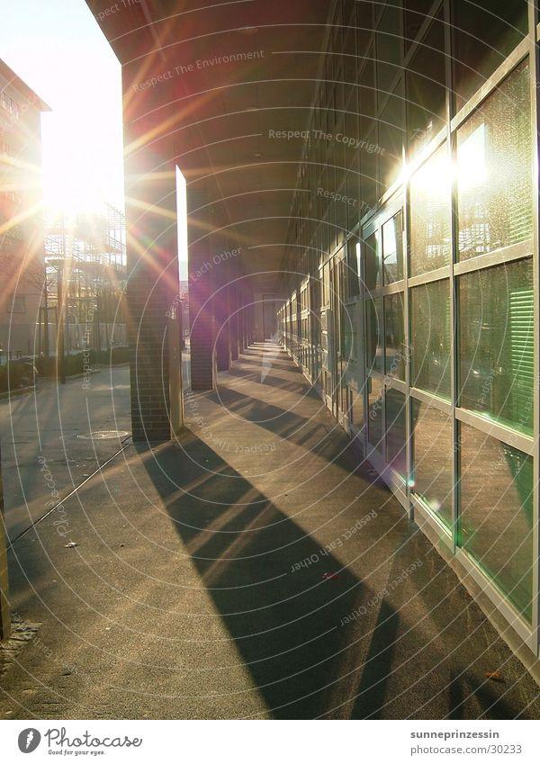 light path Reflection Light Window Glittering Architecture Sun Glass Shadow Corridor