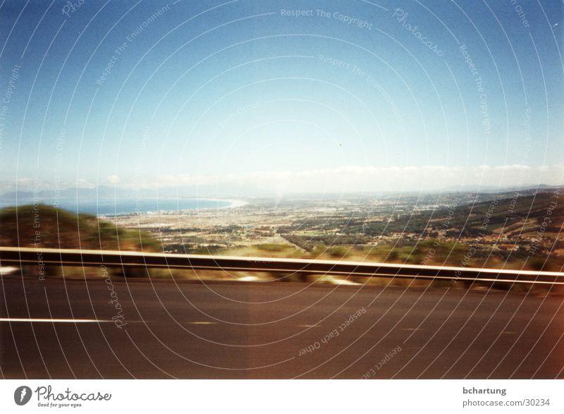 Sky Sun Blue Far-off places Street Movement Landscape Contentment Speed Driving Dynamics South Africa Crash barrier