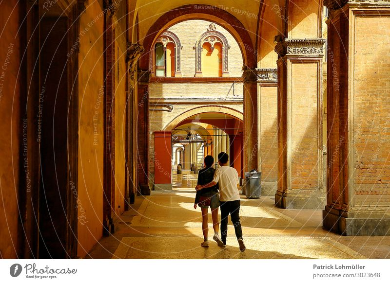 arcades Vacation & Travel Tourism Sightseeing City trip Summer Human being Masculine Feminine Young woman Youth (Young adults) Young man Couple Body 2