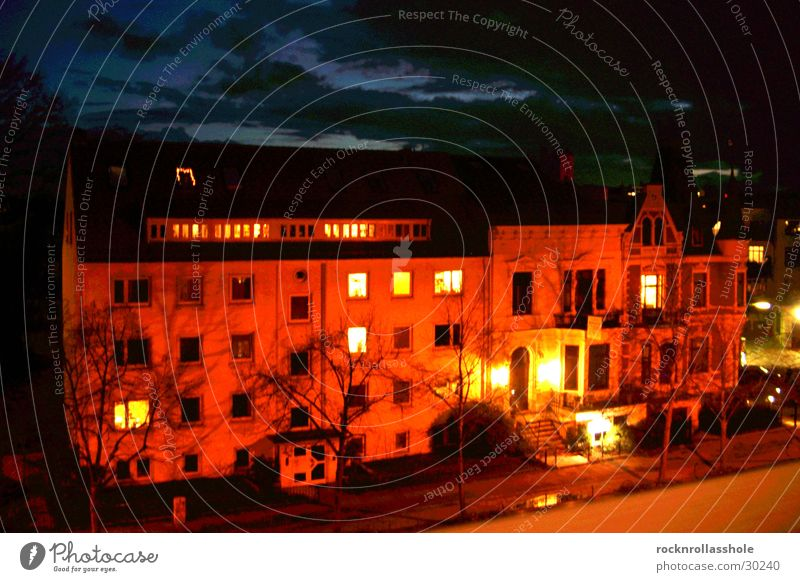 opposite number House (Residential Structure) Clouds Night Long exposure Architecture Evening Street