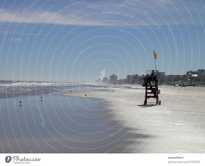 daytona beach 02 Beach Ocean Summer Americas North America Wanderlust Florida USA Sand Sky Blue Sandy beach Coast Bay watch Lifeguard Testing & Control