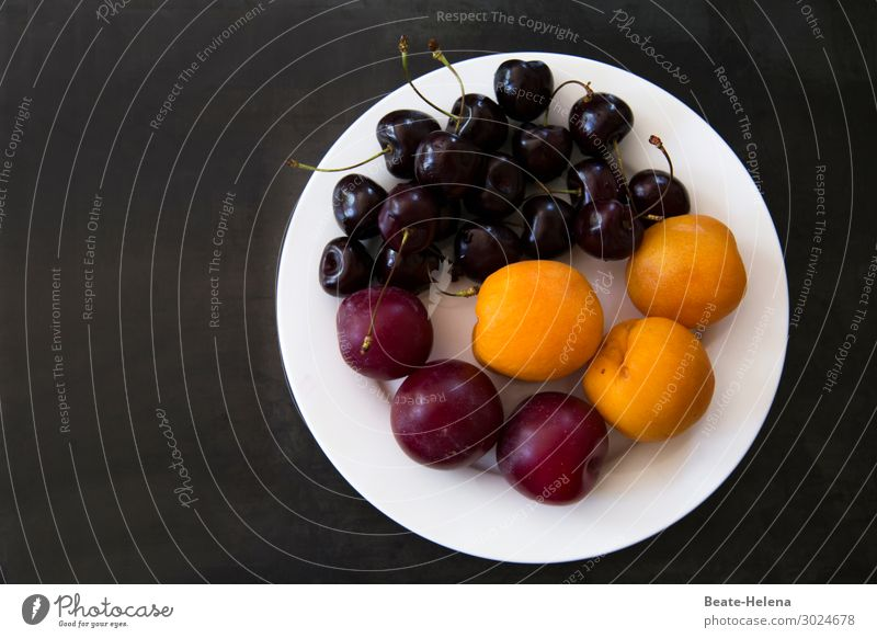 Light and digestible Food Fruit Apricot Cherry Plum Nutrition Organic produce Vegetarian diet Shopping Healthy Life Summer Plate Diet Eating To enjoy Esthetic
