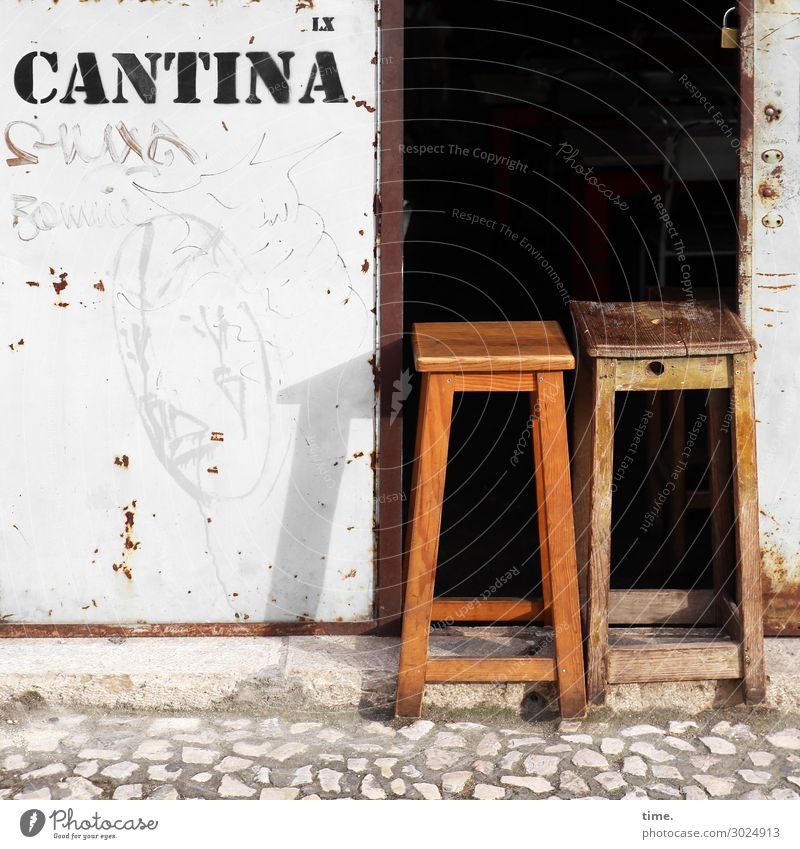 siesta Chair Kitchen Roadhouse Restaurant Cafeteria Going out Eating Workplace Economy Services Lisbon Wall (barrier) Wall (building) Entrance Street Pavement