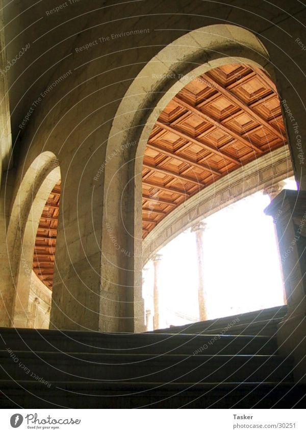 archer Granada Spain Alhambra Archway Light Window Historic