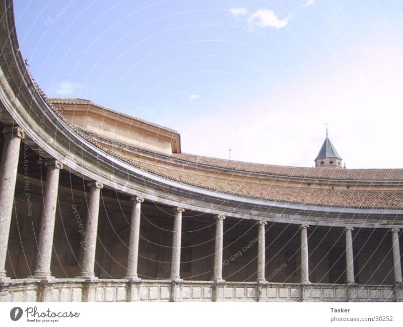 Architecture Round Spain Granada Alhambra
