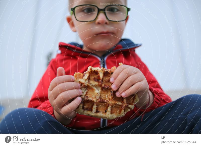 philosophy over waffle Food Roll Cake Dessert Nutrition Eating Diet Lifestyle Parenting Education Human being Child Toddler Parents Adults Brothers and sisters