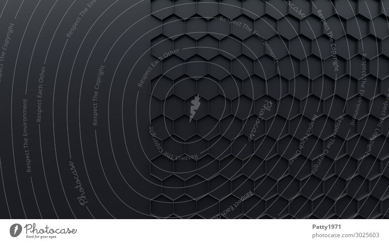 Black Background picture Gray Technology Sign Clean Network Sharp-edged Ornament Symmetry Honeycomb Hexagon Anthracite