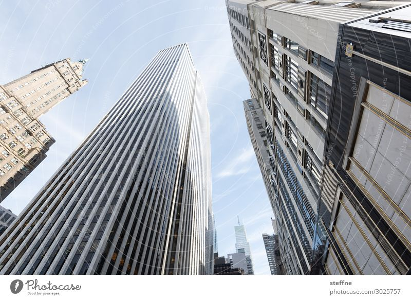 5th Av E58th St Town Skyline New York City Manhattan 5th Avenue High-rise Beautiful weather Luxury Shopping Colour photo Subdued colour Exterior shot Deserted