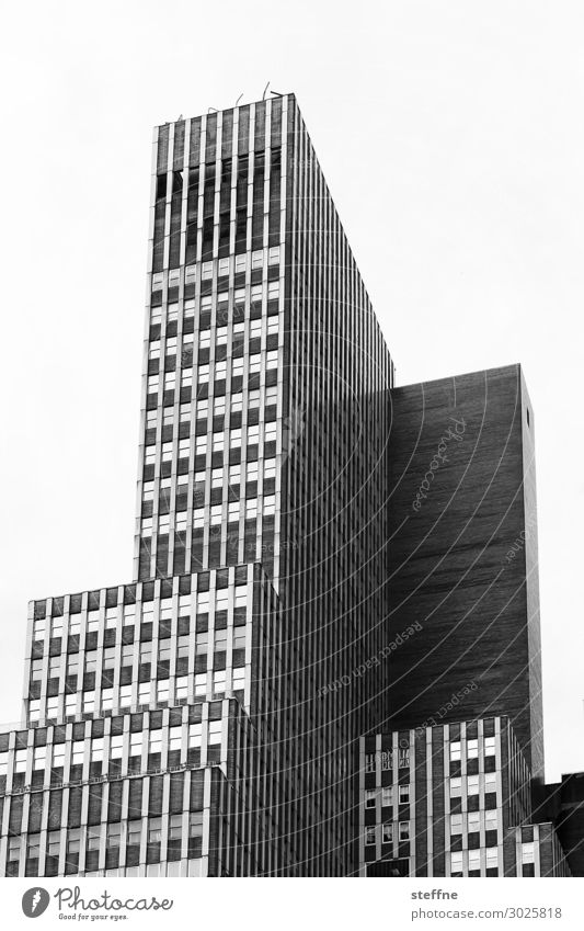 Town House (Residential Structure) Facade High-rise USA Geometry Manhattan New York City Office building Cuboid Light and shadow
