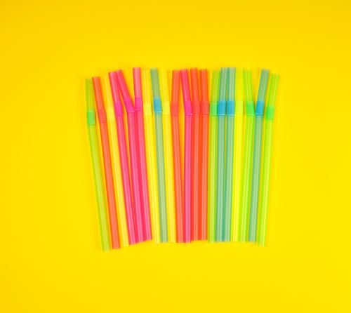 multicolored plastic cocktail tubes Beverage Juice Joy Body Arm Tube Plastic Stripe Eating Blue Yellow Green Pink Red Flexible Colour Mixed stick flat many Set