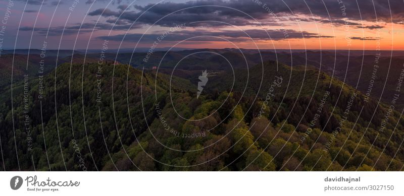 Palatinate Forest Technology Entertainment electronics Science & Research High-tech drone Aerial photograph Art Environment Nature Landscape Air Sky Clouds