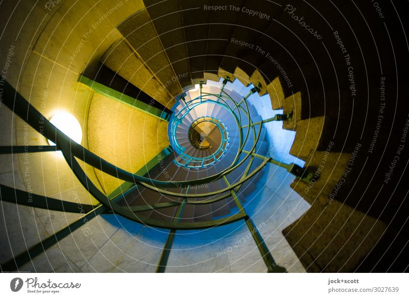 spiral staircase, one Architecture Berlin zoo Tower Victory column Banister Level Spiral Staircase (Hallway) Exceptional Fantastic Historic Original Many Moody