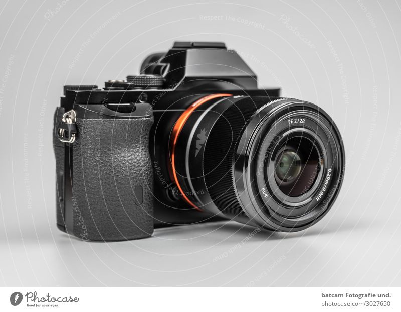 White Black Orange Gray Technology Photography Camera Workshop Silver Photographer Objective Professional Zoom effect Digital camera Single-lens reflex camera