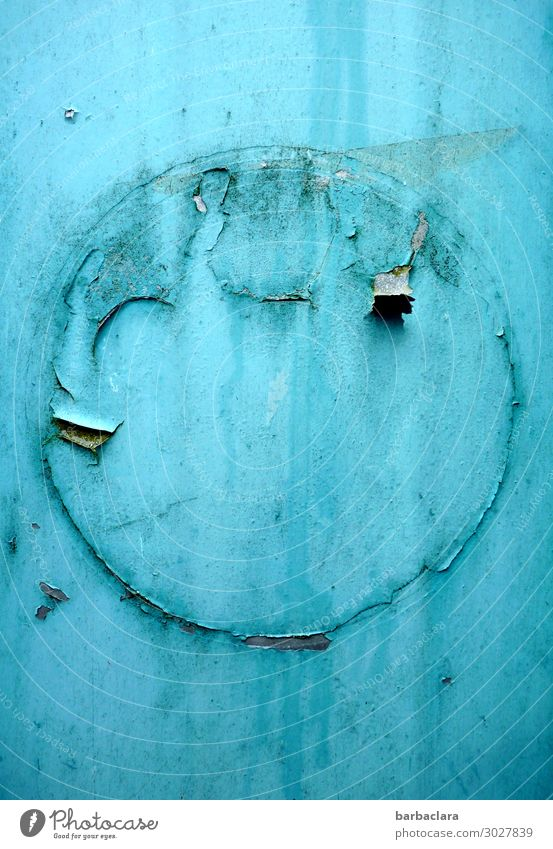 Old Blue Colour Joy Art Hair and hairstyles Head Metal Retro Esthetic Creativity Idea Change Sign Round Discover