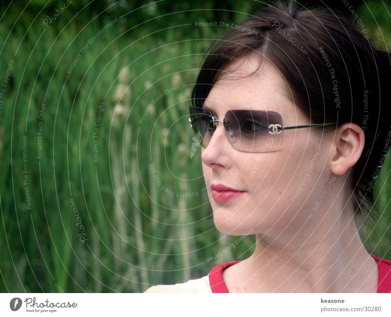 Woman Sun Green Eyes Feminine Hair and hairstyles Skin Nose Sweet Eyeglasses Face