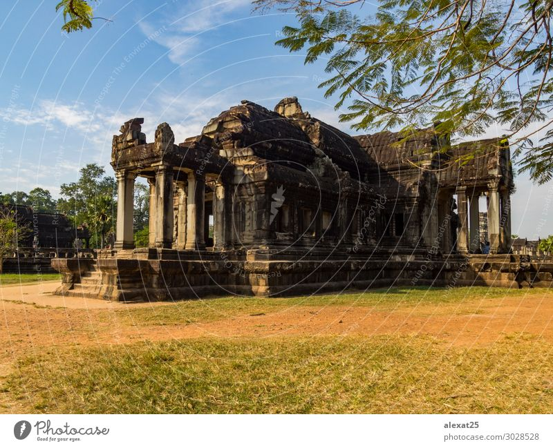 Angkor Wat Temple Vacation & Travel Tourism Earth Sky Lake Ruin Building Architecture Monument Stone Religion and faith Ancient Asia Cambodia heritage Hinduism