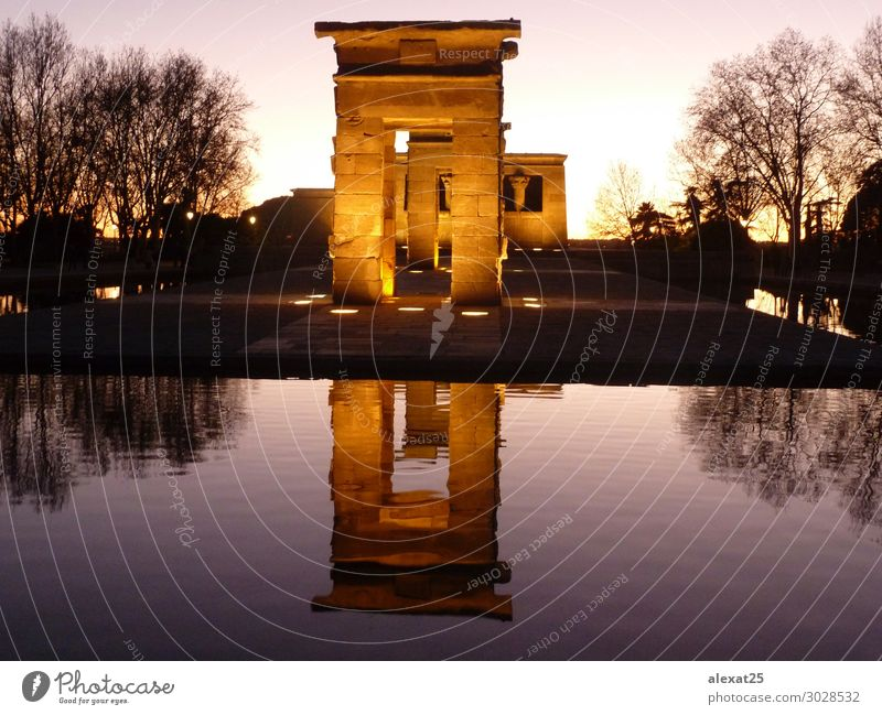 Temple of Debod in Madrid Tourism Art Culture Landscape Park Lake Ruin Building Architecture Monument Stone Historic Ancient Archeology City debod Egypt