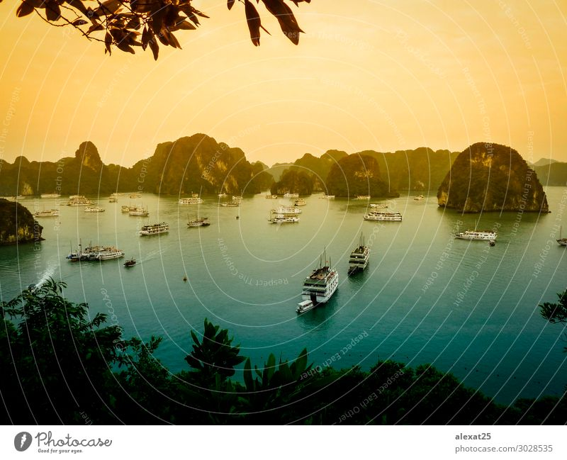 Halong Bay - Vietnam Vacation & Travel Cruise Ocean Island Mountain Nature Landscape Earth Sky Rock Village Watercraft Long Asia bay Floating ha Halong bay