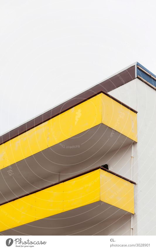Sky House (Residential Structure) Architecture Yellow Wall (building) Building Wall (barrier) Facade High-rise Esthetic Balcony Sharp-edged