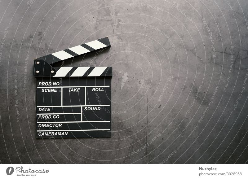 clapperboard in flat lay style White Dark Black Movement Art Stone Design Industry Symbols and metaphors Blackboard Cinema Rustic Consistency Applause