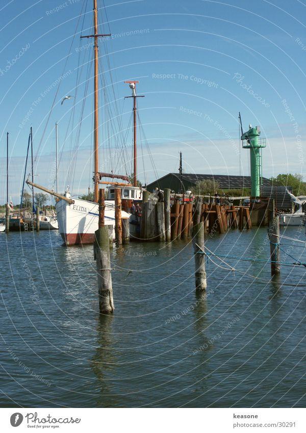 Three Watercraft Sailing Large Europe Harbour Blue Rope Sky http://www.keasone.de