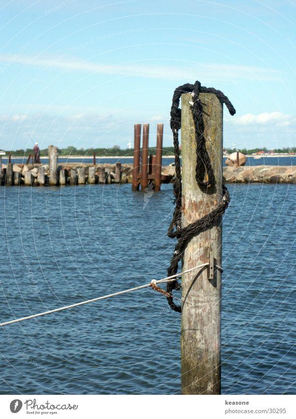 port1 Sailing Wood Drop anchor Europe Harbour Rope Water Blue Lens http://www.keasone.de