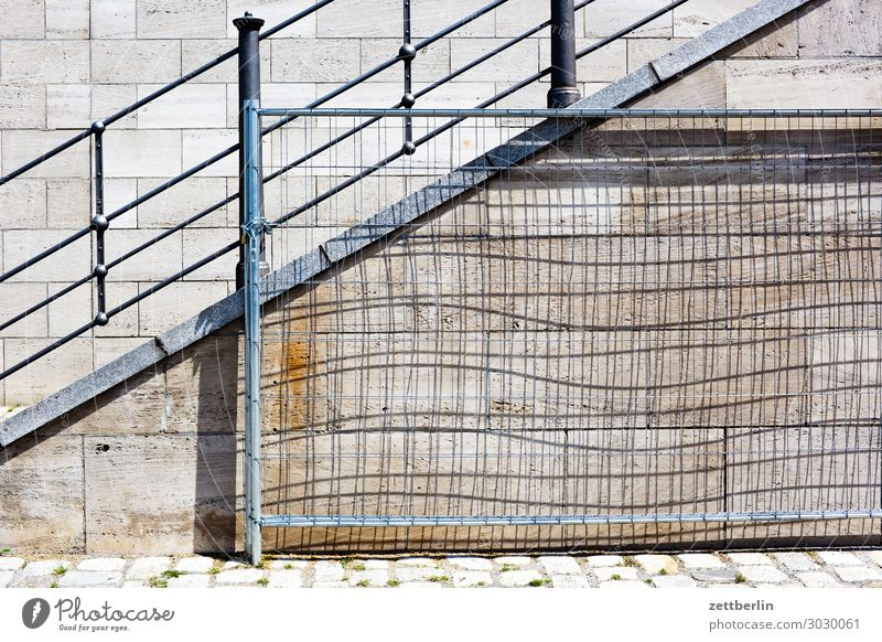 fence Berlin Stairs Wall (barrier) Wall (building) Jetty quay wall Channel Spree Spreebogen Handrail Banister Fence Wire fence Metalware Barrier Border Light