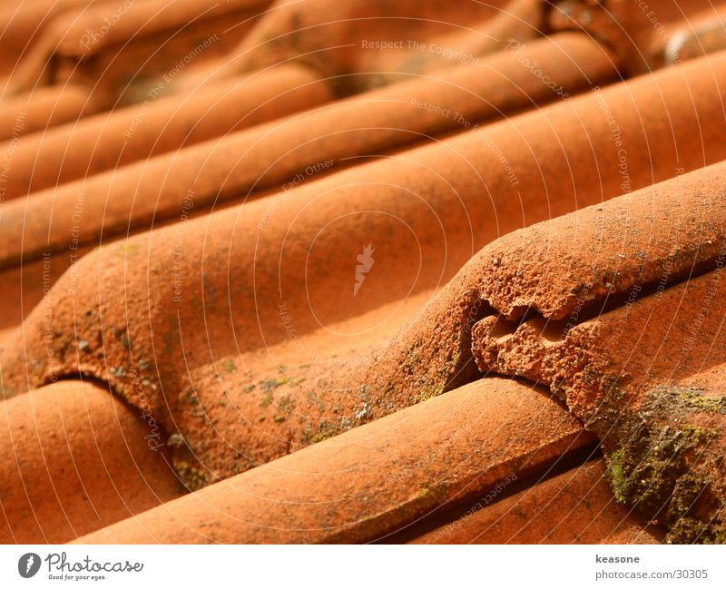 Red Architecture Perspective Roof Brick