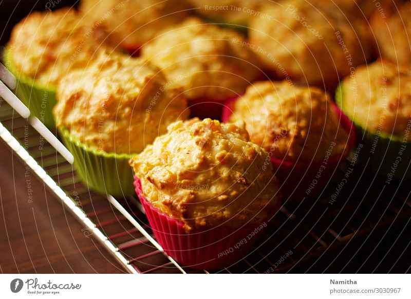 Vegetable muffins Food Nutrition Eating Vegetarian diet Finger food Healthy Muffin Subdued colour Interior shot Day
