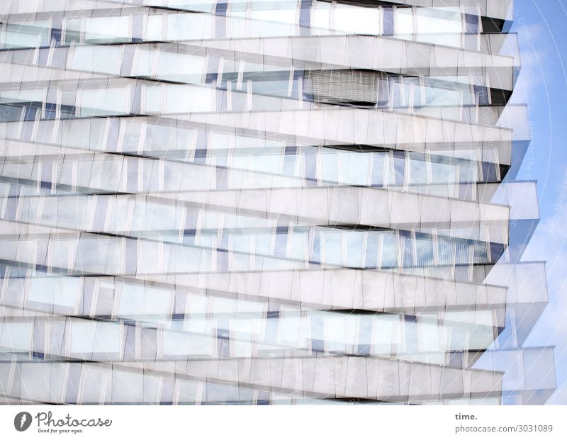 Airy, nested. Living or residing Flat (apartment) Sky Beautiful weather Chemnitz House (Residential Structure) High-rise Architecture Wall (barrier)