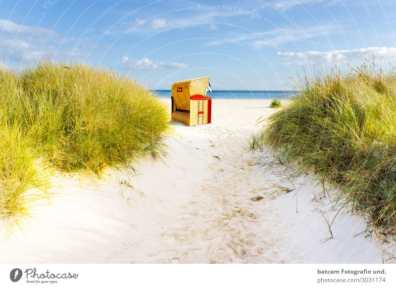 Access road to the beach at the Baltic Sea Leisure and hobbies Vacation & Travel Tourism Summer Sun Beach Ocean Waves Landscape Sand Water Clouds Spring Autumn