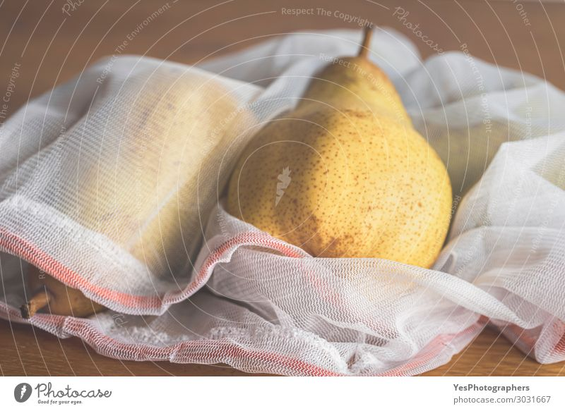 Fruits in a reusable mesh shopping bag. Eco-friendly bags Food Diet Lifestyle Shopping Healthy Eating Environment Autumn Packaging Package Plastic packaging